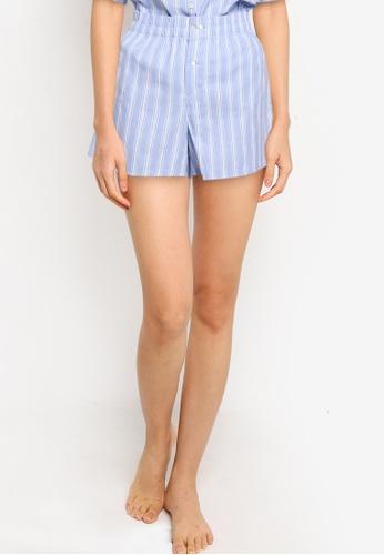 GAP blue Poplin Shorts 83E49AA77AF97BGS_1