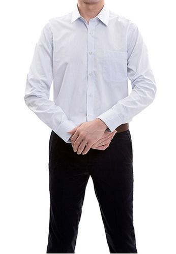 Goldlion white Goldlion Long-Sleeved Shirt 6C2C8AAACB0053GS_1