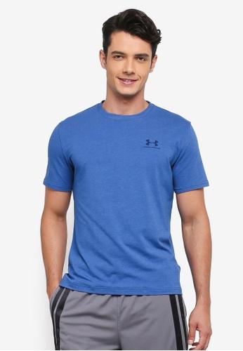 Under Armour blue CC Left Chest Lockup T-Shirt UN337AA0STZRMY_1