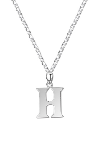 SC Tom Silver silver Letter Pendant with Chain SC872AC0J8CWPH_1