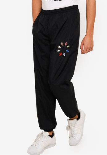 Adidas 黑色 adicolor shattered trefoil track pants B4C15AAC651779GS_1