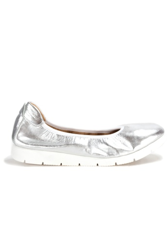 Shu Talk 銀色 DARKWOOD 超舒適芭蕾舞有跟鞋 3C4DBSH500529DGS_1