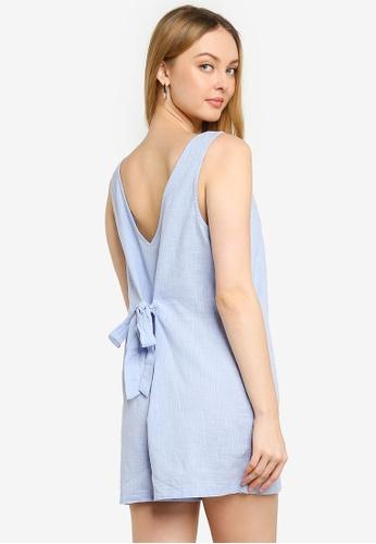 Cotton On blue Woven Jess Tie Back Romper 277F3AA709E04DGS_1