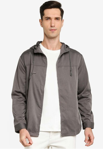 ZALORA BASICS grey Hooded Parka A7DBDAA186F212GS_1
