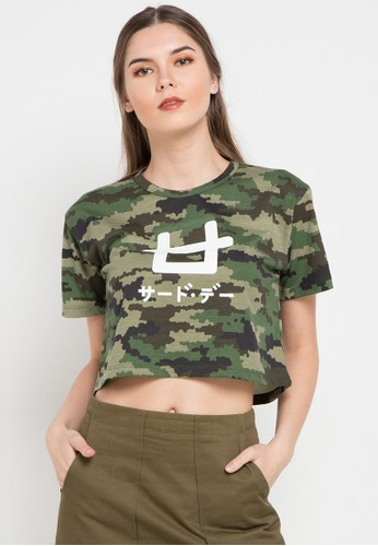 Third Day green S/S Lds Crop Camo-Px Logo1 0318EAA420EE26GS_1