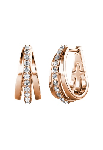 Her Jewellery gold Her Jewellery Aurielle Hoop Earrings (Rose Gold) embellished with Crystals from Swarovski C4280ACFF8831BGS_1