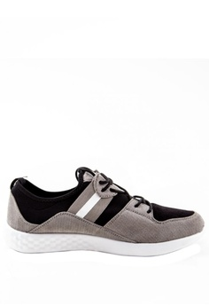 29b5fee52f8 Otto grey Suede Trainers with Side Stripes OT407SH0J5NRPH 1