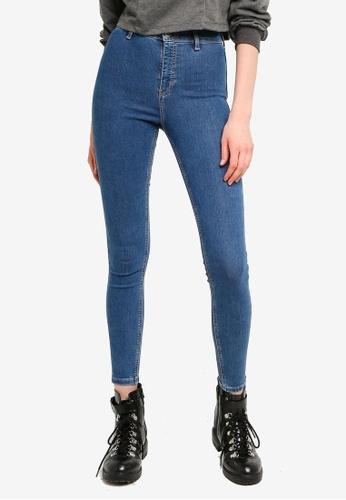 TOPSHOP blue Mid Wash Denim Joni Jeans EC76CAAF399721GS_1