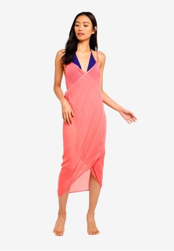 ac0e51385 PINK N' PROPER pink Mira Chiffon Beach Cover Up Dress 58777USADEA813GS_1