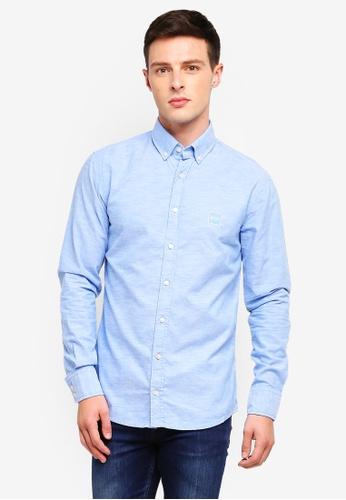 BOSS 藍色 長袖襯衫 1A0C6AA3AE1625GS_1