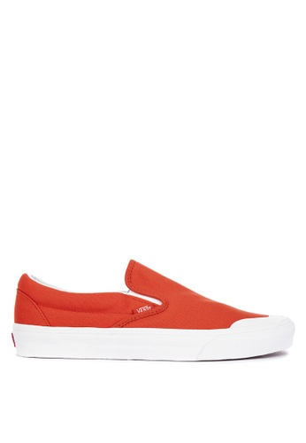 VANS orange Canvas Classic Slip-On 138 Sneakers 9E7AESH0F6A292GS_1