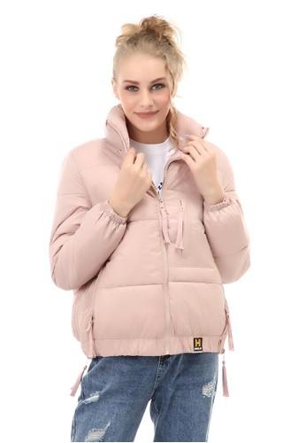 Hamlin pink Jacket Outer Wanita Classic Design Material Parasut ORIGINAL - Pink 2FFC0AABBC8E4CGS_1