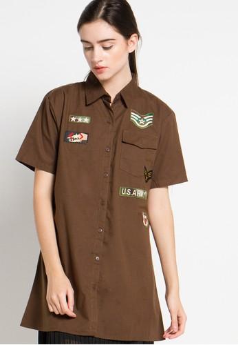Hassenda brown Short Sleeve HA130AA37XJEID_1