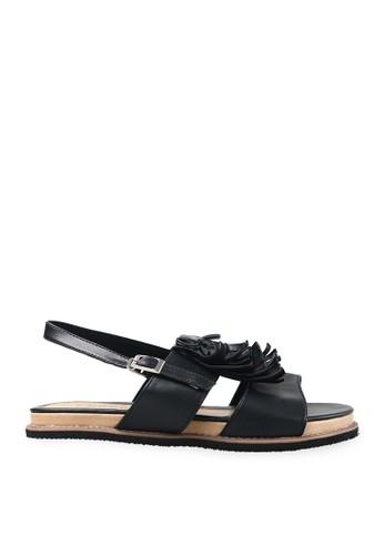 Endorse Shoes Loretta Fringe Black END-PB004
