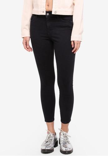 Miss Selfridge black Petite Sofia Black Jeans E2E1BAA633BD96GS_1
