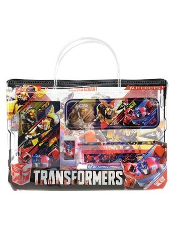 Transformers black Transformers TFEG Transparent Document Bag With Stationery Set FBD3FKCFD56D56GS_1