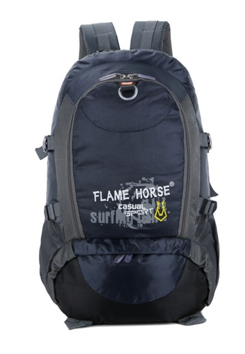 Jackbox blue FlameHorse Water Resistant Camping Travelling Hiking Backpack 40L 153 F47A3AC2728768GS_1