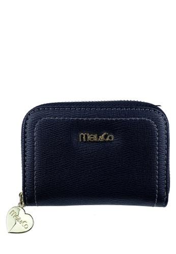 Mel&Co black Faux Leather Zipped Around Card Holder 05BBDAC0598E2DGS_1