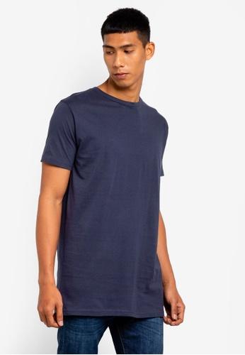 Brave Soul 海軍藍色 長版圓領T恤 4A7C0AA143CFF2GS_1
