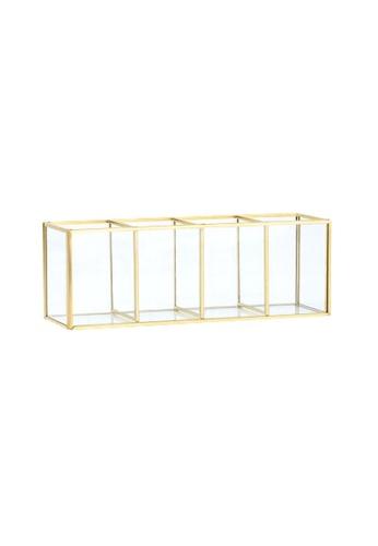 DILAS HOME 4-grid Vintage Brass Glass Organiser 0036BHL23F11C5GS_1