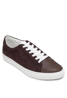 Casual Contrast Lace Up Sneakers