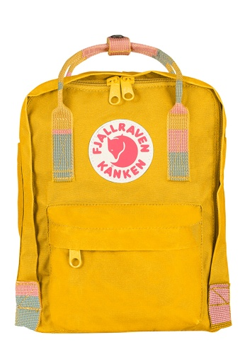 Fjallraven Kanken yellow Warm Yellow-Random Blocked Kanken Mini Backpack BCF7CACC5A5033GS_1