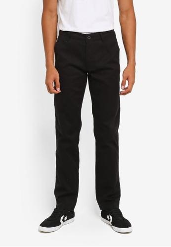 Fidelio 黑色 修身直筒長褲 F256EAAB6D7575GS_1