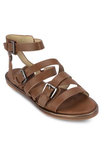 多帶繞踝涼鞋,zalora時尚購物網評價 女鞋, 鞋