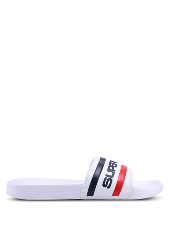 Superdry white Retro Colour Block Sliders 5E215SH4D15932GS_1