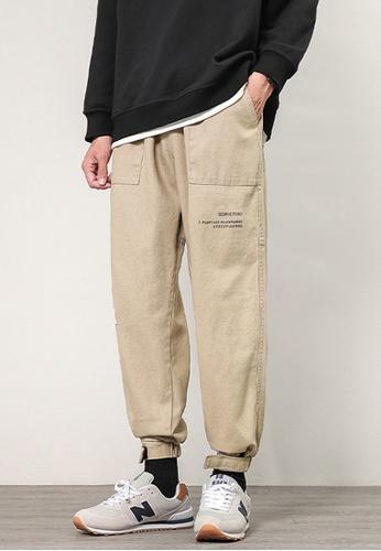 Trendyshop beige Skinny Jogger Pants 3695DAAB463106GS_1