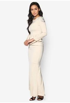 Baju Kurung Moden With Peplum - Vercato Anya