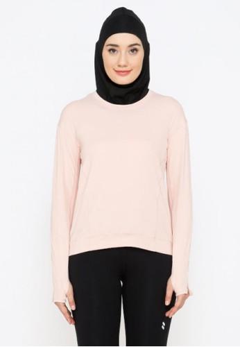 YUCCA MODEST pink Sport Yoga Top Baju Senam Olahraga Lengan Panjang Wanita Light Pink -Yucca Modest 9719CAA416D514GS_1