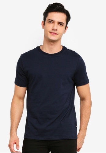 Burton Menswear London 海軍藍色 Navy Crew Neck T-Shirt 5EB2EAAFAD2897GS_1