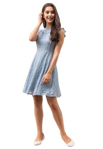 L'zzie blue LZZIE NEFERTITI DRESS - BLUE B00E6AAD085F3EGS_1