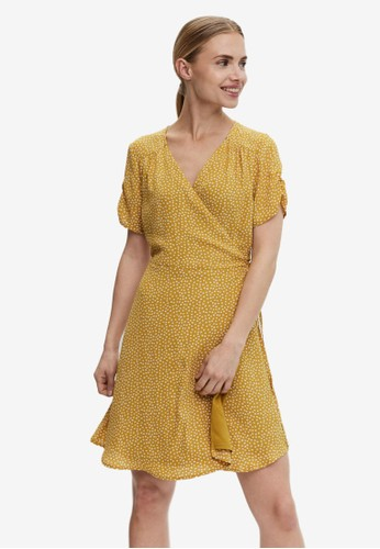 Vero Moda gold V-neck Mini Dress 621A7AADC43A7BGS_1