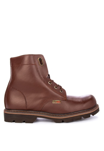 Itti brown Lace up Boots D49B1SHED2F51DGS_1
