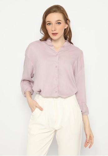 Mannequin lilac purple Flowy Rayon Overshirt 06558AAAA07A0FGS_1
