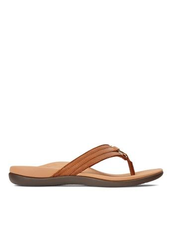Vionic brown Tide Aloe Toe Post Sandal CE5CBSHA99B910GS_1