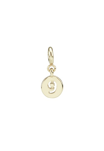 My Flash Trash gold GOLD NUMBER 9 CHARM F5438AC15A535DGS_1