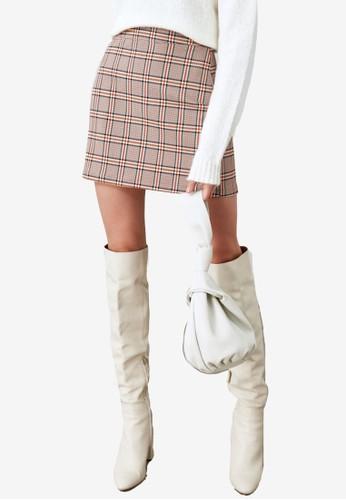 Trendyol brown Plaid Mini Skirt 6D646AA0E535AFGS_1