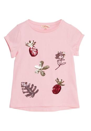 Du Pareil Au Même (DPAM) pink Sequin T-shirt 4426EKA0885BD8GS_1