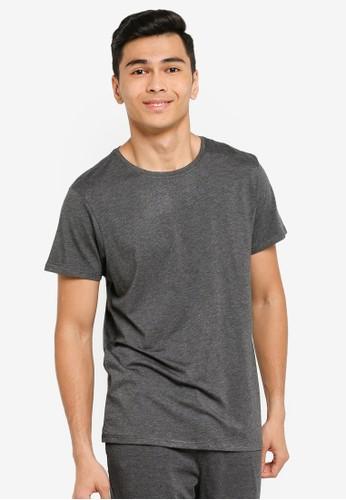 JBS of Denmark grey Basic O-Neck T-Shirt 31FBBAAFCED1F3GS_1