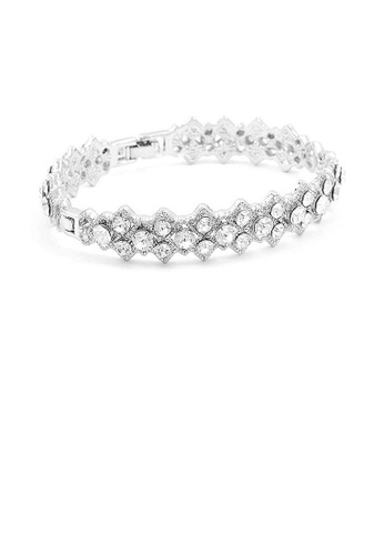 Glamorousky silver Antique Bangle with Silver Austrian Crystals 5400BAC4BAFE2FGS_1
