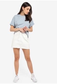 ab79b2e0a69d54 TOPSHOP Boxy Roll Sleeve T-Shirt RM 69.00. Sizes S M M L XS S