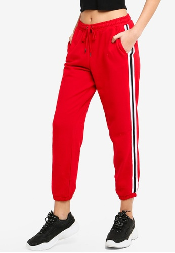 Supre red Basic Side Stripe Track Pants 3A9E0AAF8B3059GS_1
