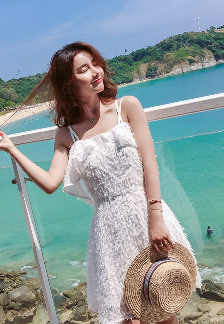 One Piece Sweetheart A060440W Shoulder Off Polyester Style white 2018 Sunnydaysweety New White Dress WTa00H