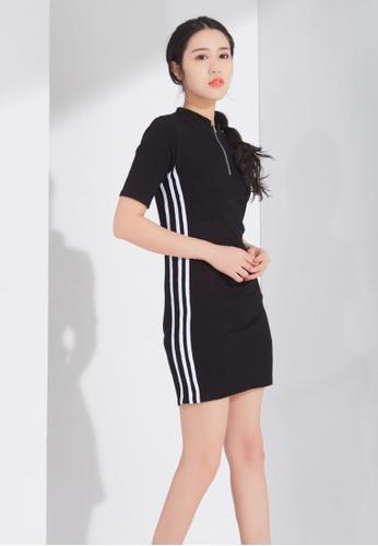 Zafiti black Pack Hip Short Sleeve Dress C5EBEAA24D1EBBGS_1