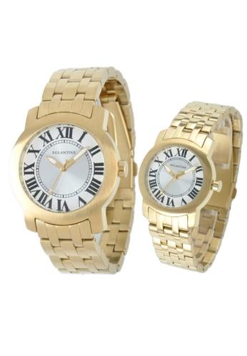 EGLANTINE gold EGLANTINE® - Emile & Emily - 2 Quartz Watches Yellow Gold Plated Steel on Bracelet AA985ACB1C5DB6GS_1
