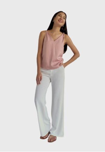 Love, Bonito pink Indre Satin Twist Camisole 8C41EAA6C9BEEFGS_1