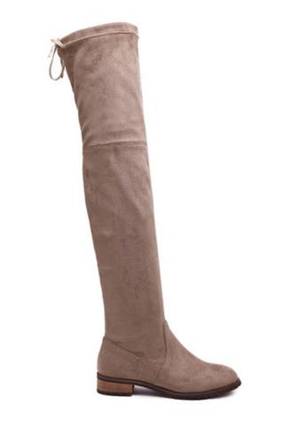 Twenty Eight Shoes beige Over Knee Long Boots 799-12 30DF8SH6BE4FE1GS_1